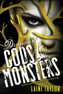 """Book Cover for """"Dreams of Gods & Monsters"""" by Laini Taylor"""