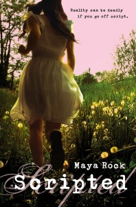 """Book Cover for """"Scripted"""" by Maya Rock"""