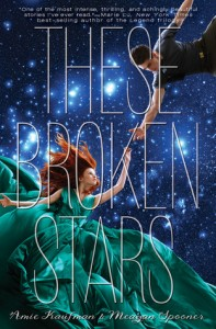 """Book Cover for """"These Broken Stars"""" by Amie Kaufman"""