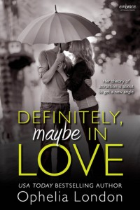 """Book Cover for """"Definitely, Maybe in Love"""" by Ophelia London"""