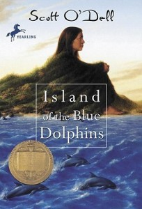 """Book cover for """"Island of the Blue Dolphins"""" by Scott O'Dell"""