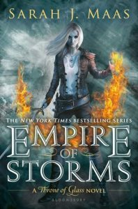 """Book Cover for """"Empire of Storms"""" by Sarah J Maas"""
