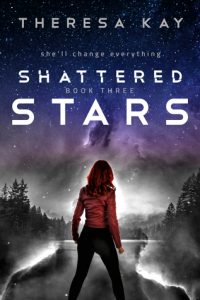 """Book Cover for """"Shattered Stars"""" by Theresa Kay"""