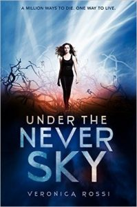 """Book Cover for """"Under the Never Sky"""" by Veronica Rossi"""