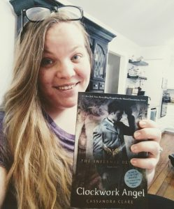 picture of Amanda with book