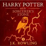 """Audiobook Cover for """"Harry Potter and the Sorcerer's Stone"""" by J.K. Rowling"""